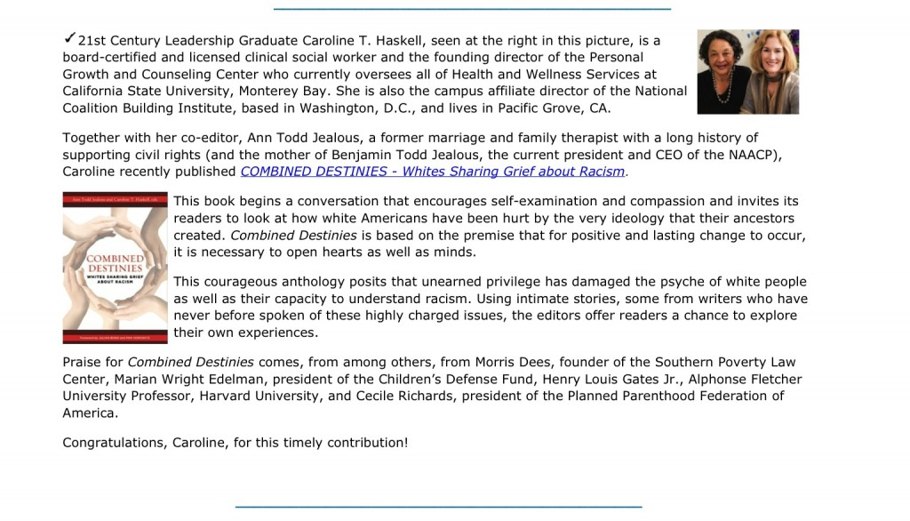 21st Century Newsletter clipping: Article follows
