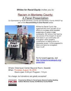 Final Flier - Racism in Monterey County Aug 18 (1)